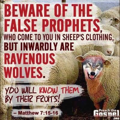 False Prophets BEWARE