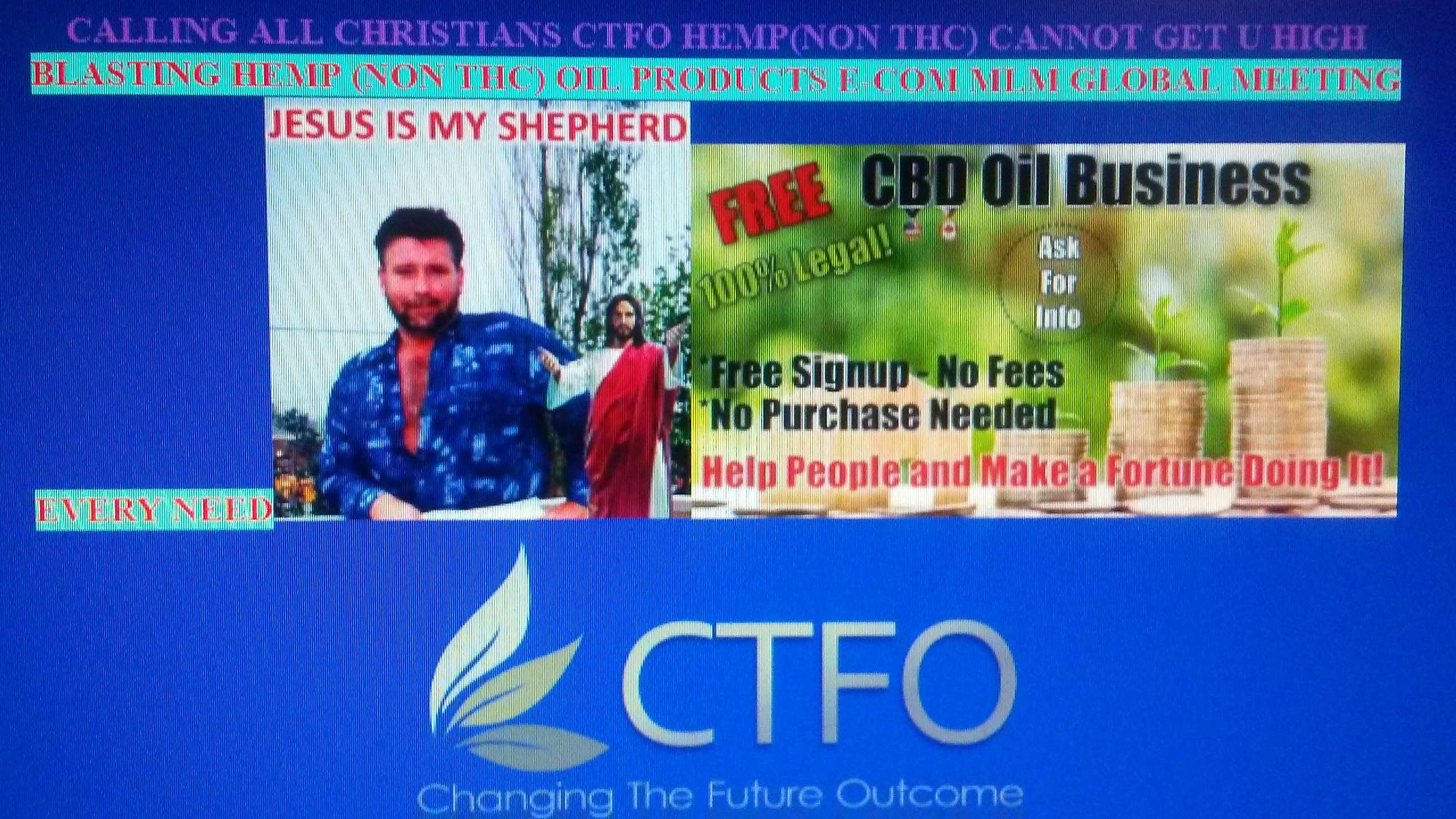 CALLING ALL CHRISTIANS CTFO HEMP (NON THC) CANNOT GET U HIGH
