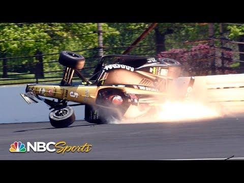 Indianapolis 500: James Hinchcliffe crashes at qualifying | Indy 500 | Motorsports on NBC