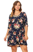Buy Plus Size Floral Brushed Swing Dress
