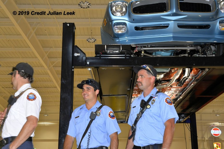 9. Melbourne FD gets to see the underside of a car  without it being upside doen.