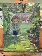 "'Clara's Garden"" 9 X 12 original oil by Sherry Mason"