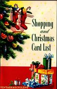 Vintage Christmas card list
