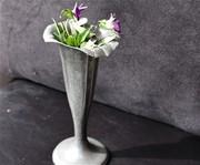 Old Metal Cemetary Vase