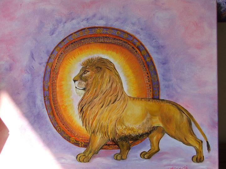 Lion Gate in oils