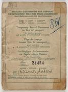 2012-05-20 美國軍政府發行暫時旅行證件給德國 Temporary Travel Document for Germany