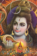 Shiva with Conch