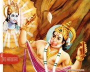 Hanuman is workshipping Rama