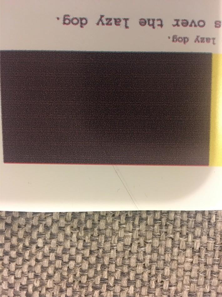 Test print black