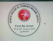 First re union of all sports college students and teachers on 9th & 10th Jan 2016 at Luck now