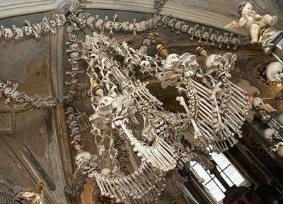 bone church chandelier