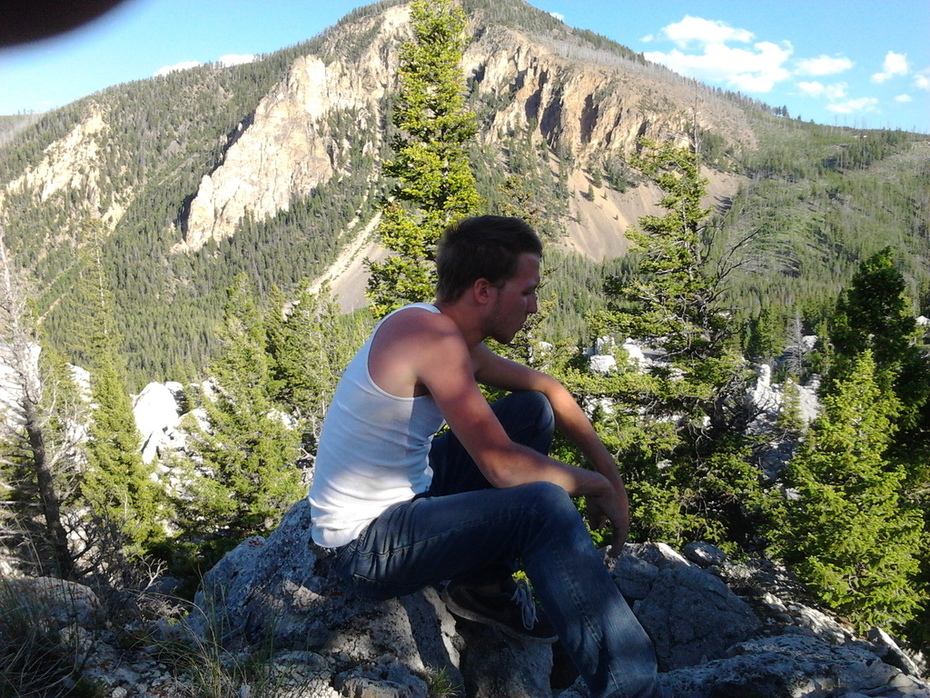 High up in the HooDoos in Yellowstone