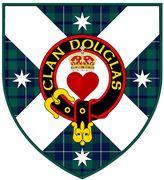 Clan Douglas Australia shield with crest.
