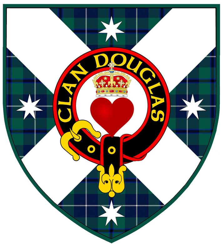 Clan Douglas Australia shield with crest.