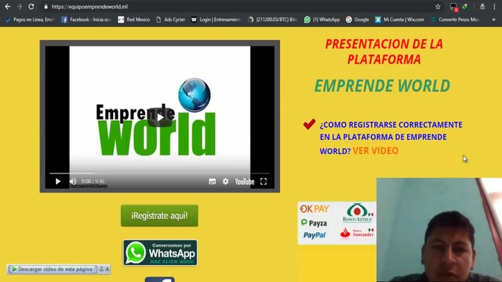 Registro a emprendeworld