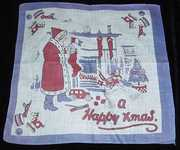 French Father Christmas Childs Hankie