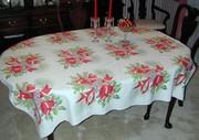 Wilendur Style Vintage Christmas Tablecloth