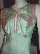 blue silk nightgown c
