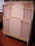 vintage pastelle shabby bed