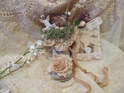 Vintage Baby Shoe Bird Nest