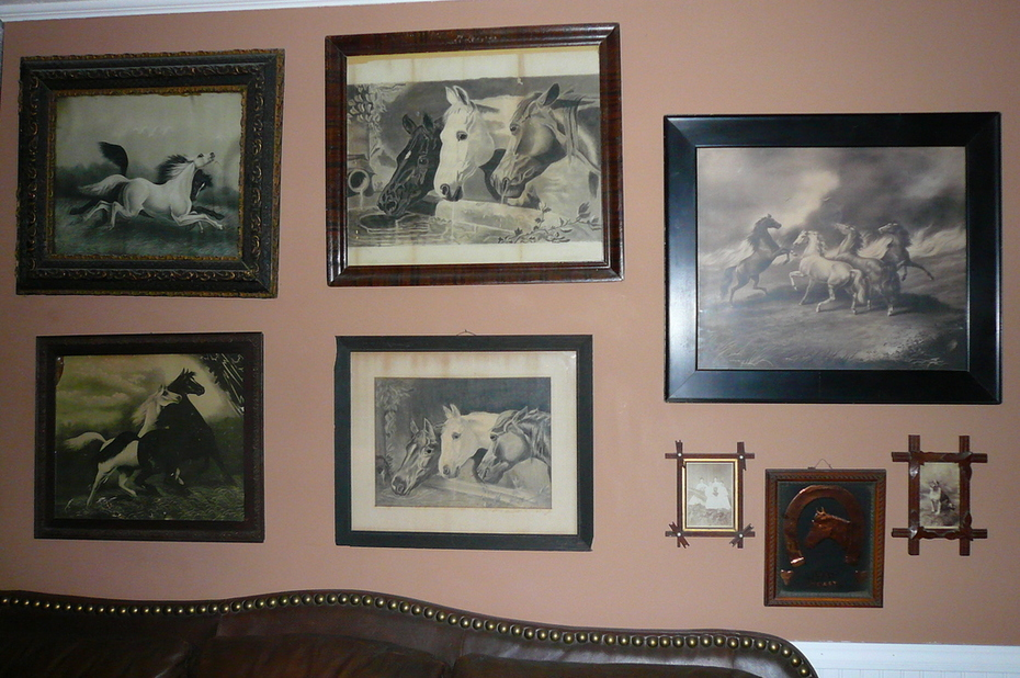 antique horse prints and drawings