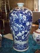 Beautiful vase with dragons all around