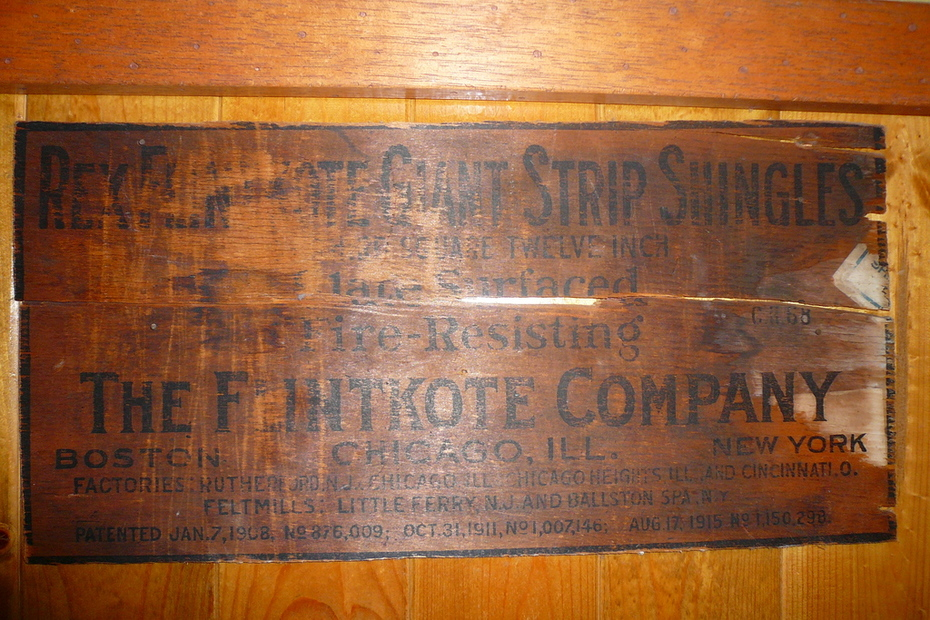 from an old shingle box