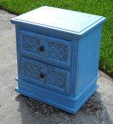 Distressed, Light, Blue Night Stand