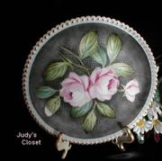 3519 Westmoreland Black Mist and Roses Charleton Plate