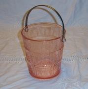 Pink Oaken Bucket Ice Bucket by Cambridge Glass