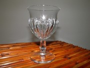 Vintage Heisey Glass,1940's,Crystal Water Goblet,Ridgeleigh Pattern