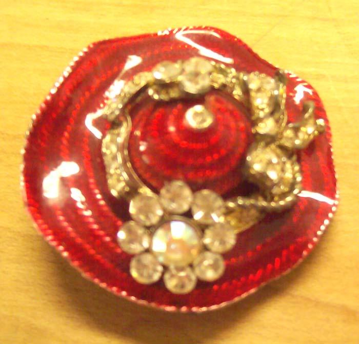 Red Hat Society brooch