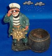 Vintage hand carved ship captain