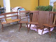 Ethan Allen table $60 and bench $120