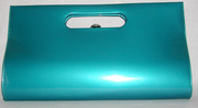 gorgeous torquoise vintage clutch handbag