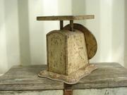 Antique Wicker Basket Baby Scale Photo Prop