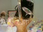 better picture of marigold Fenton mini basket Carnival glass