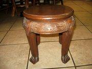 Wooden foot stool