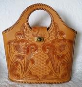 Minty Tooled Leather Handbag
