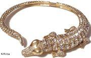Kenneth Jay Lane Alligator Collar