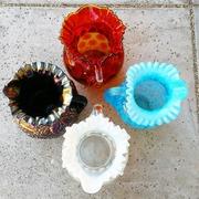 ANTIQUE FENTON, DUGAN AND JEFFERSON GLASS PITCHERS
