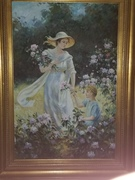 OIL Painting  Signed B DRAPER IN RED OIL PAINT