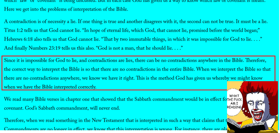 Explaining the contradictions in the bible - From a Christian Website. WTF AM I READING?