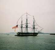 USS Constitution on a turn-around cruise