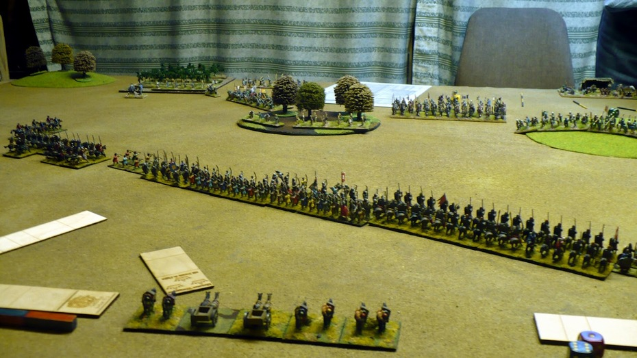 DBMM miniatures game Western Frankish vs Norman
