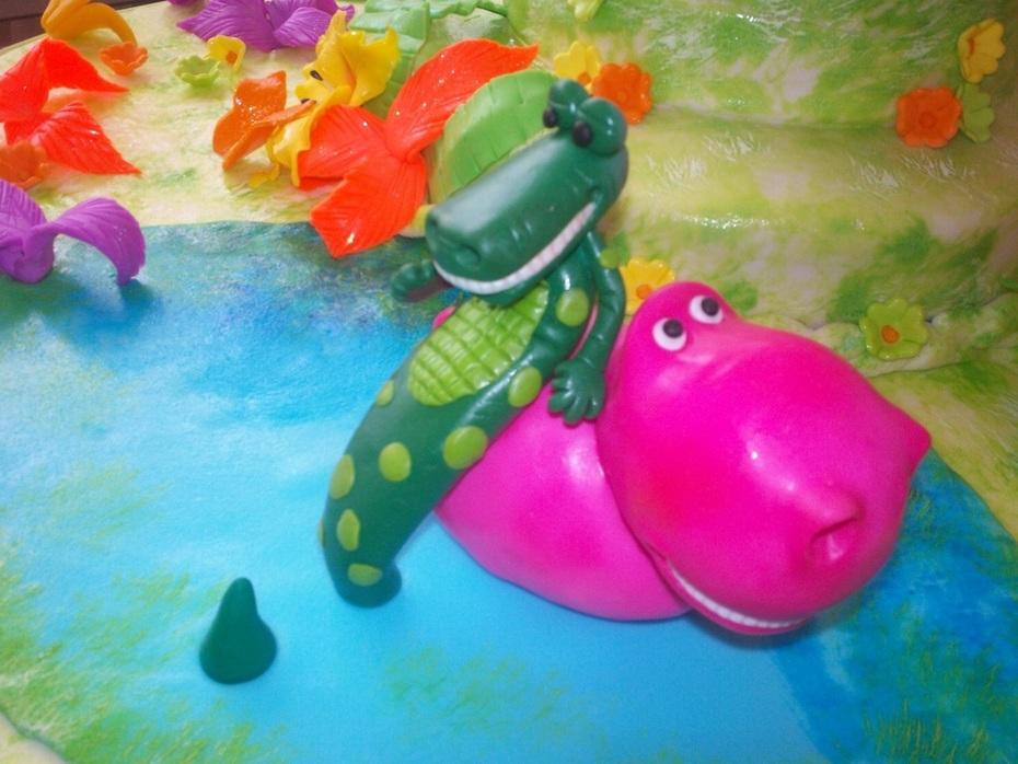 Cocodrilo e hipopotamo