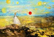 girl and balloon's