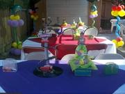 esta fue la decoracion de mis hijos cars tinkerbell