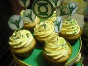 Cupcakes de Linterna Verde