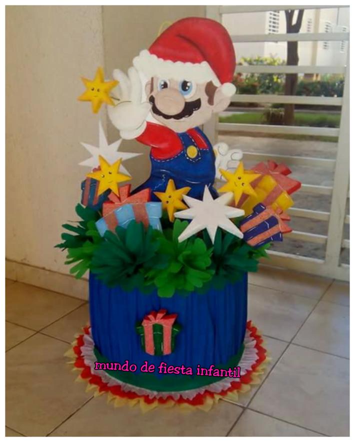 Piñata de Mario bross en navidad